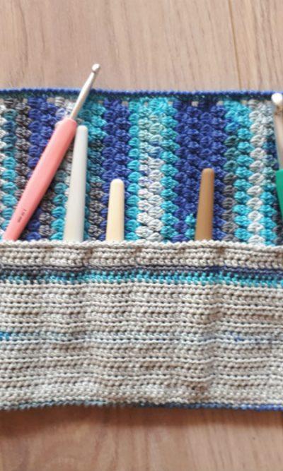 Haaketui blauw gemeleerd - grijs-0