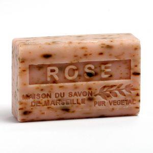 Savon de Marseille Rose avec petales (Rozenbloem) - 125gr.-0